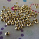 Gold Metal 3x2mm Rondelle Bead - Set of 100