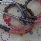 Shades of Purple Glass Beads- 2 Strands
