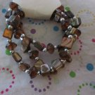 Brown Shell Bracelets Set of 3