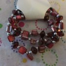 Red Shell Bracelets Set of 3