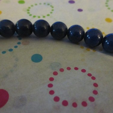 "Dark Blue Mountain Jade 8mm - 1 7""Strand"