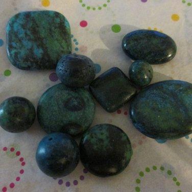 Yellow Turquoise Bead Mix - 9 Beads