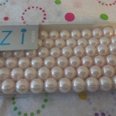 Pink Glass Pearls, 8mm - 120 Beads