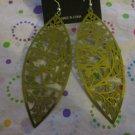 Olive Green Dragonfly Metal  Earrings