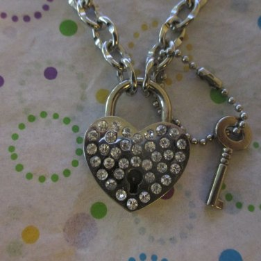 Chain with Lock  Fashion Necklace