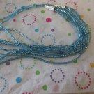 Light Blue Multi-Strand Fashion Necklace
