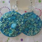 Blue Bead Fashion Earrings