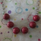 Red Jade Balls with Chain Necklace
