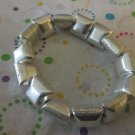 Silver Square Puffed Bead Bracelet.