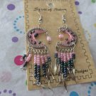 Pink Moon Beaded Earrings