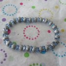 Light Blue and Silver Bead Fashion Bracleets