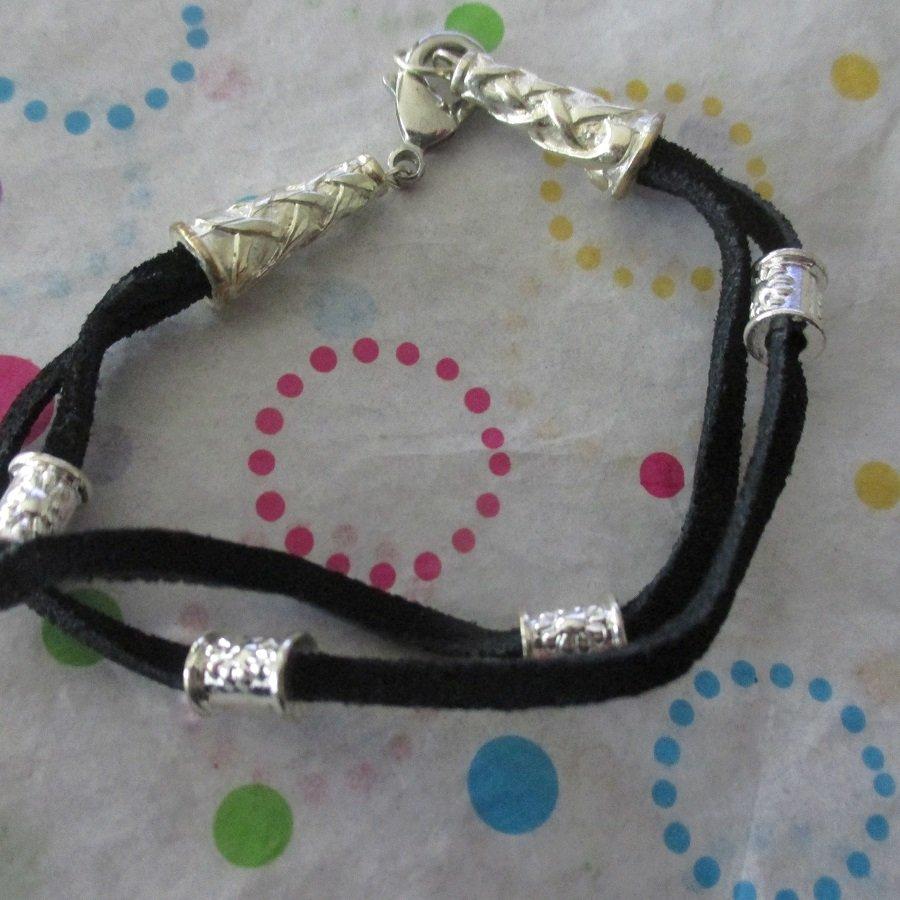 Black and Silver Fashion Bracelet