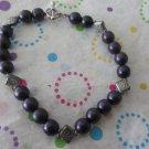 Purple Glass Bead Fashion Bracelet