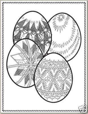 Collection of EASTER EGGS Printable Images 59 Pages