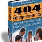 404 Self Improvement Tips Love, Success, Health, Money