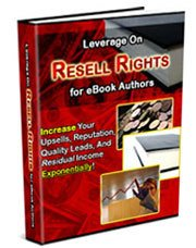 Leverage On Resell Rights for Ebook Authors