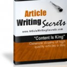 Article Writing Secrets Create killer articles