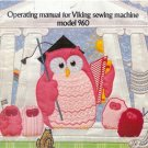 VIKING HUSQVARNA  960 SEWING EMBROIDERY  Machine instruction manual on CD.