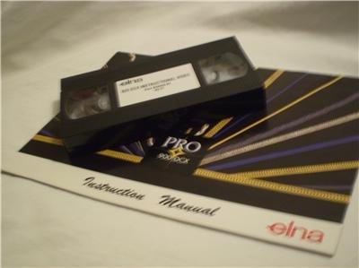 ELNA 925 DCX 905 & 904 INSTRUCTIONAL VIDEO & MANUALS