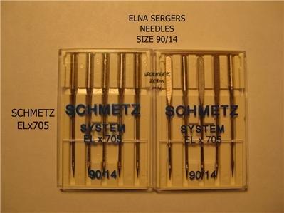 ELNA SERGER SCHMETZ SYSTEM ELx705 90/14 NEEDLES NEW