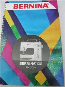 BERNINA 1001 ELECTRONIC Sewing Machine User's Guide CD