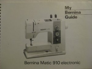 BERNINA MATIC 910 ELECTRONIC SEWING MACHINE MANUAL CD