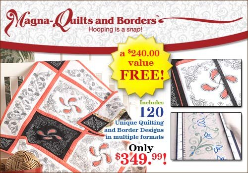 BERNINA MAGNA QUILTS AND BORDERS BERNINA 830  25off One week sale