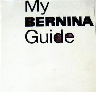 830 MY BERNINA GUIDE + ADJUSTMENTS & SPARE PARTS CD