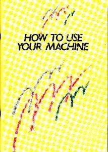 Brother KH400 KH395 Convertible Knitting Machine Manual
