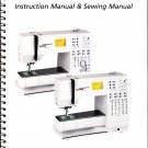 BERNINA VIRTUOSA 153/163 SEWING MACHINE INSTRUCTION MANUAL  & SEWING GUIDE CD