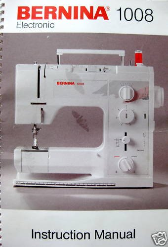 Bernina Electronic 1008 Sewing Machine Manual Guide CD