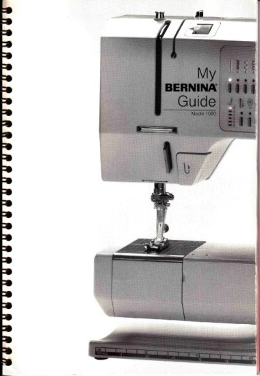 Bernina 1080 MANUAL PDF Format on CD EXCELLENT QUALITY!