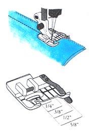 VIKING HUSQVARNA CLEAR SEAM GUIDE FOOT(1)-(7)4130348-45