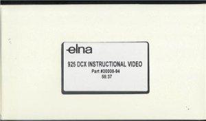 ELNA 925 DCX 905 & 904 DCX PRO INSTRUCTIONAL VIDEO  DVD