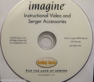 Baby Lock Imagine  Instructional Video  DVD
