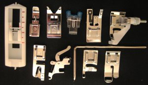 11 piece set  for SEWING MACHINE LOW SHANK FEET WILL FIT BERNINA