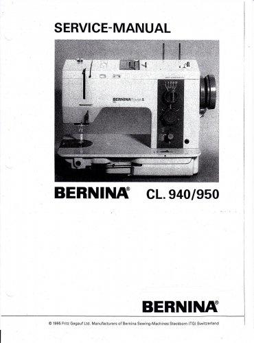Bernina 940/950 Service Manual in PDF format on CD