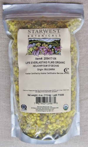 4 oz Organic Life Everlasting Flowers - Liver & Choleretic Support /бе��ме��ник