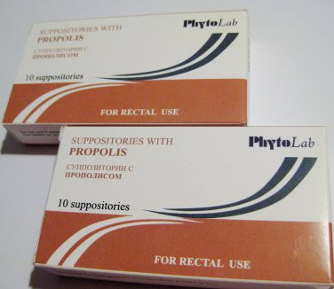 SUPPOSITORIES WITH PROPOLIS 2 packages (20 pieces)