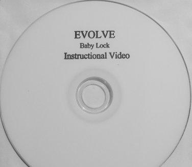 Baby Lock EVOLVE / EVOLUTION Instructional Video DVD