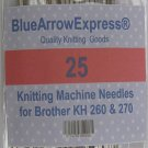 25 Brother Knitting Machine Needles for Bulky Models KH260 & KH270