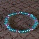 Beaded Bracelet 1 purple-3 blue