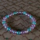 Beaded Bracelet 2 purple-1 blue
