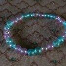 Beaded Bracelet 2purple-2 blue
