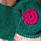 Green-Fushia Dishcloth-Scrubber