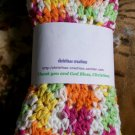 Pastel-White Dishcloth & Scrubber