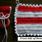 Red & White Towel Holder and Pot Holder