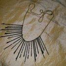 Gold, Blk, Lg, Med, Sm, Bobbie Pin Necklace 24in (1)