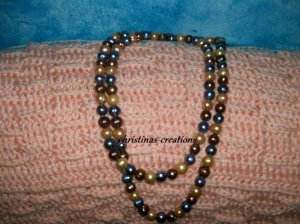 Large Multi-Colored Pearl 40 in. Necklace