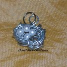 Silver Wire Birds Nest Pendant/Charm